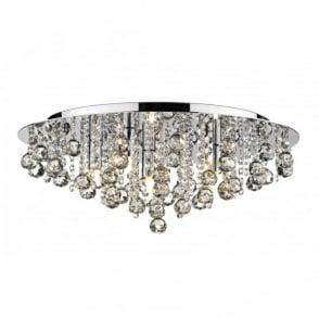 Modern ceiling chandelier light for a low ceiling pluto large chrome crystal chandelier for low ceilings aloadofball Gallery
