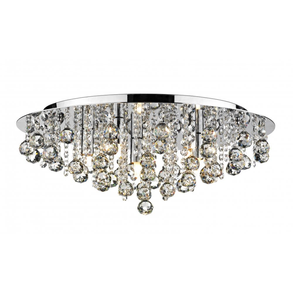 Crystal flush chandelier for low ceiling buy online - Ceiling lights and chandeliers ...