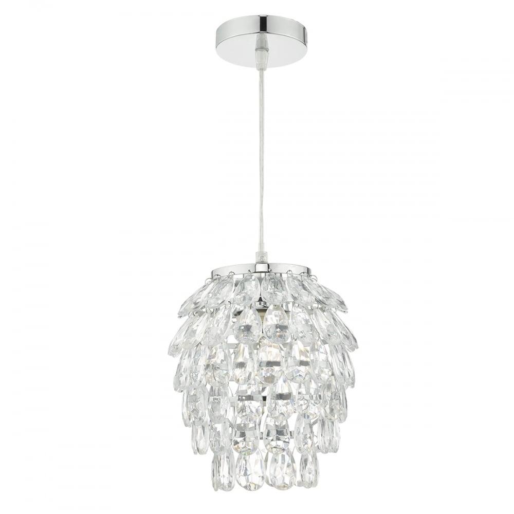 Decorative polished chrome and clear acrylic easy fit pendant shade decorative clear acrylic easy fit pendant shade aloadofball Gallery