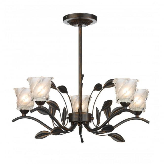 The Lighting Book PRUNELLA bronze cottage light for low ceilings
