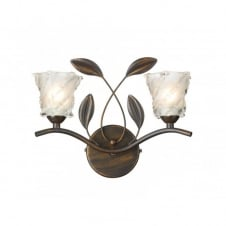 PRUNELLA wall light antique bronze rustic cottage style