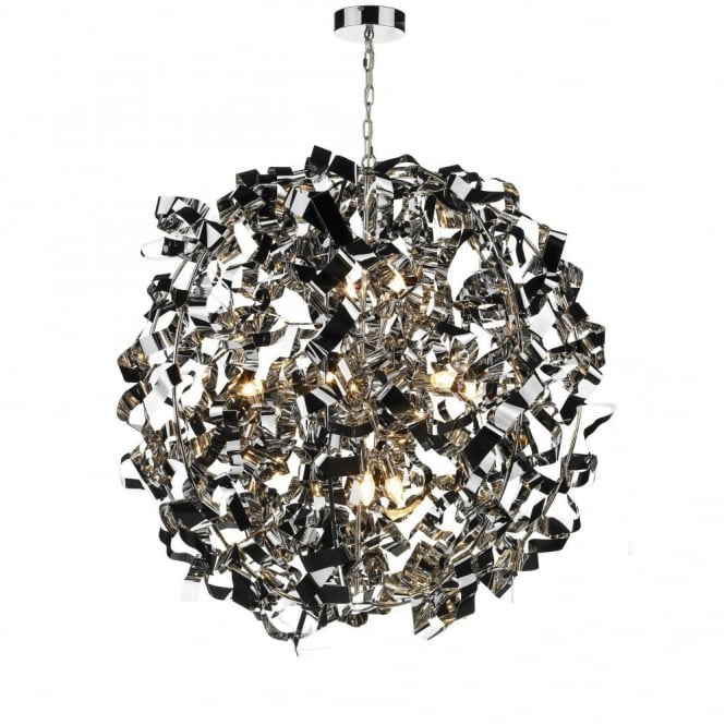 The Lighting Book PUCCINI modern chrome ball pendant light