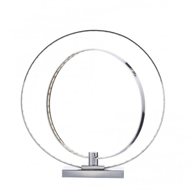 PUMA contemporary polished chrome LED ring table lamp