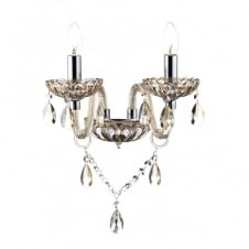 RAPHAEL chandelier style twin wall light champagne glass