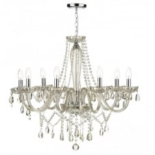 RAPHAEL double insulated champagne glass 8 light chandelier