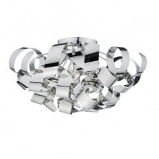 polished chrome flush ceiling light