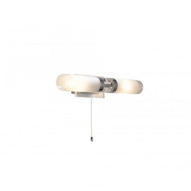 The Lighting Book REFLEX chrome glass switched bathroom wall light IP44