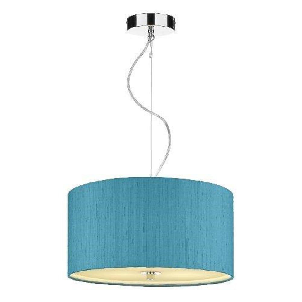 Renoir Blue Silk Ceiling Pendant Light Shade