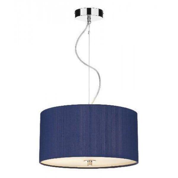 Blue Silk Renoir Ceiling Pendant Light Shade For High Ceilings