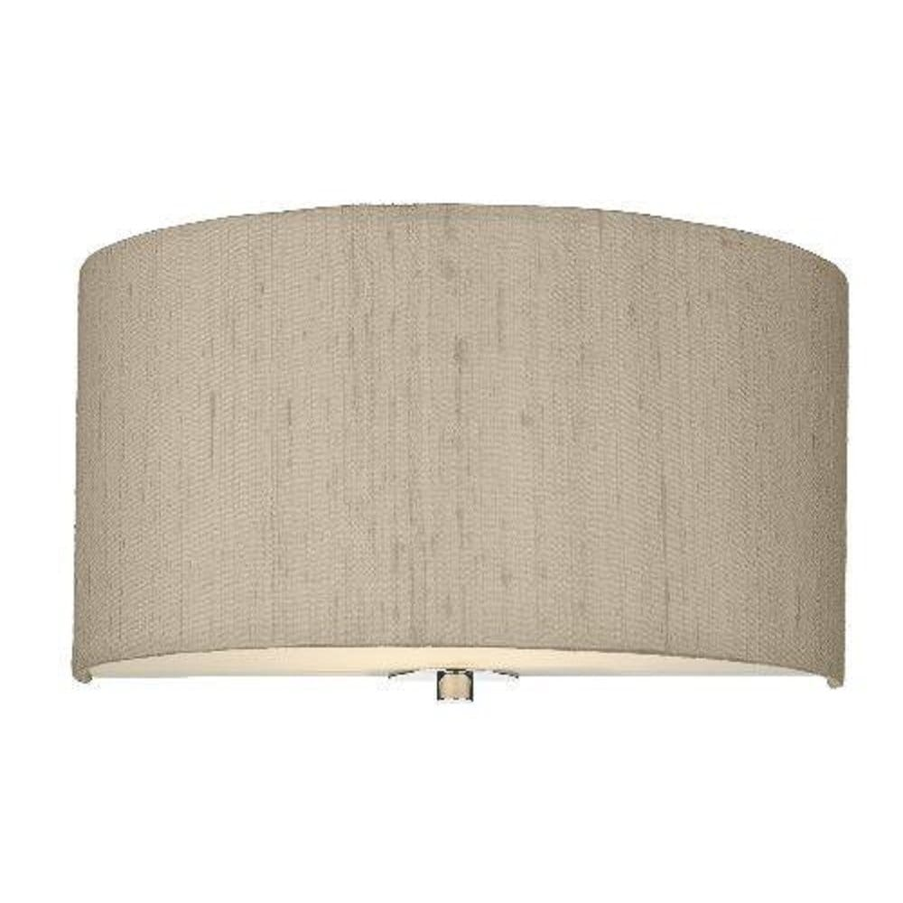 Wall washer wall light with taupe silk shade - Wall taupe ...