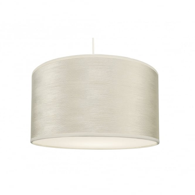 REUBEN strung cream easy fit pendant shade with diffuser