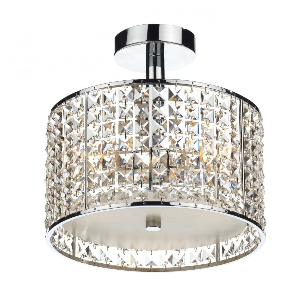 Modern bathroom ceiling light chrome crystal design for Contemporary bathroom ceiling lights