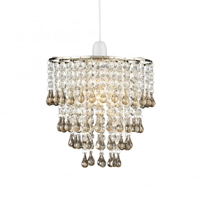 The Lighting Book RIA smoky glass easy fit ceiling pendant light