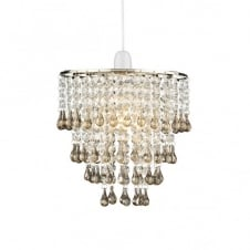 RIA smoky glass easy fit ceiling pendant light