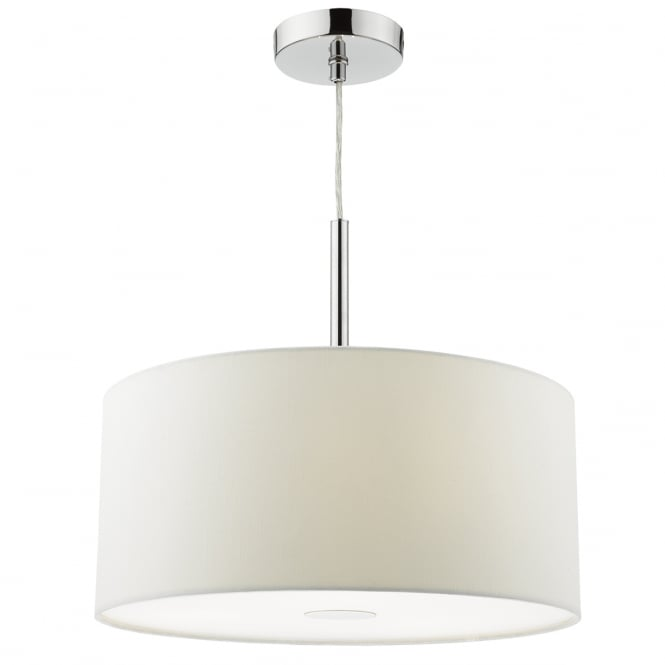 The Lighting Book RONDA 3 light white faux silk ceiling pendant