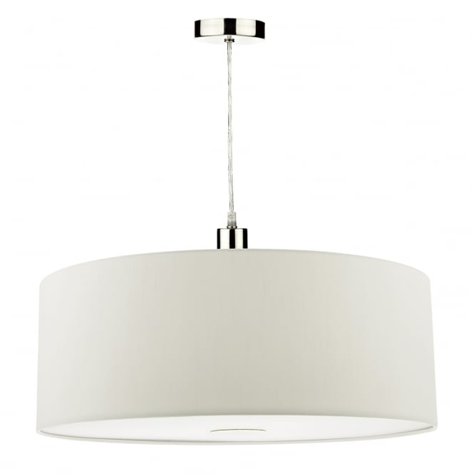 The Lighting Book RONDA faux silk porcelain white easy fit pendant shade