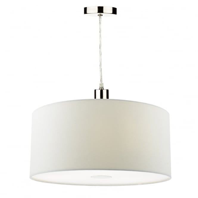 The Lighting Book RONDA faux silk porcelain white easy fit pendant shade (small)