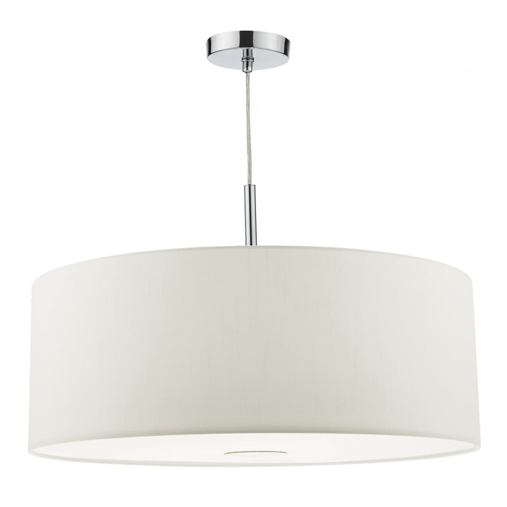 modern white faux silk drum ceiling pendant with diffuser. Black Bedroom Furniture Sets. Home Design Ideas