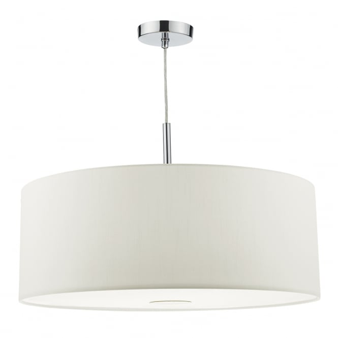 The Lighting Book RONDA modern 3 light white faux silk ceiling pendant with diffuser