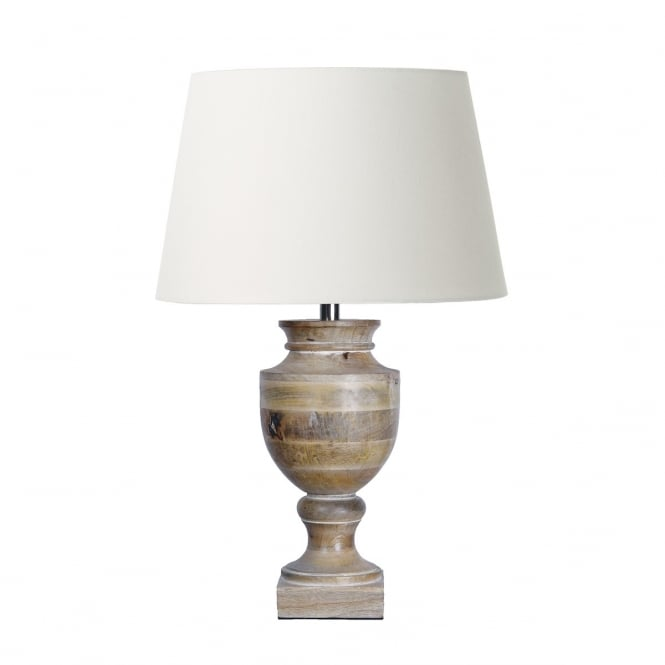 The Lighting Book RUDYARD wooden urn table lamp base
