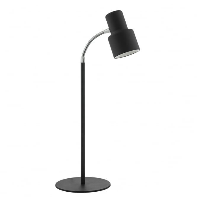 RYAN black and chrome LED desk lamp