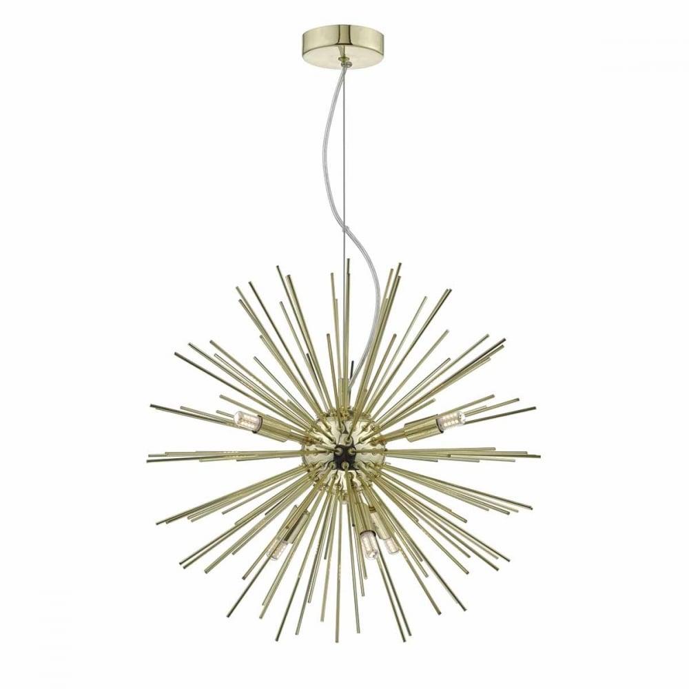 Sagan 6 light gold sputnik style ceiling pendant gold 6 light sputnik ceiling pendant mozeypictures Image collections