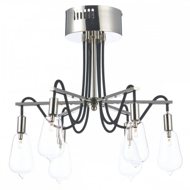 The Lighting Book SCROLL decorative semi flush polished nickel ceiling light