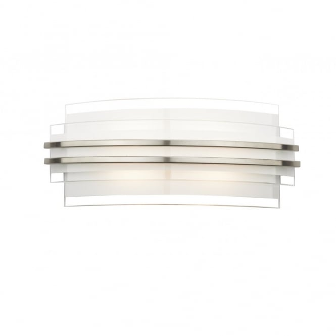 The Lighting Book SECTOR double trim contemporary LED wall light (large)
