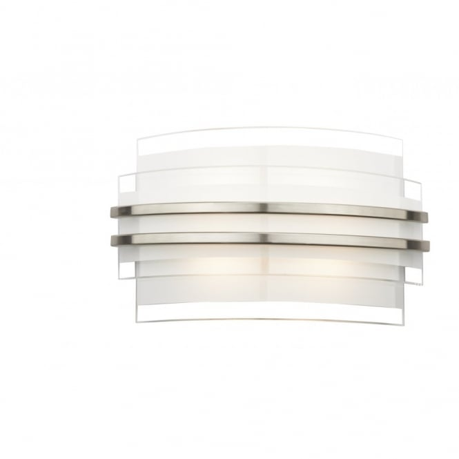 The Lighting Book SECTOR double trim contemporary LED wall light (small)