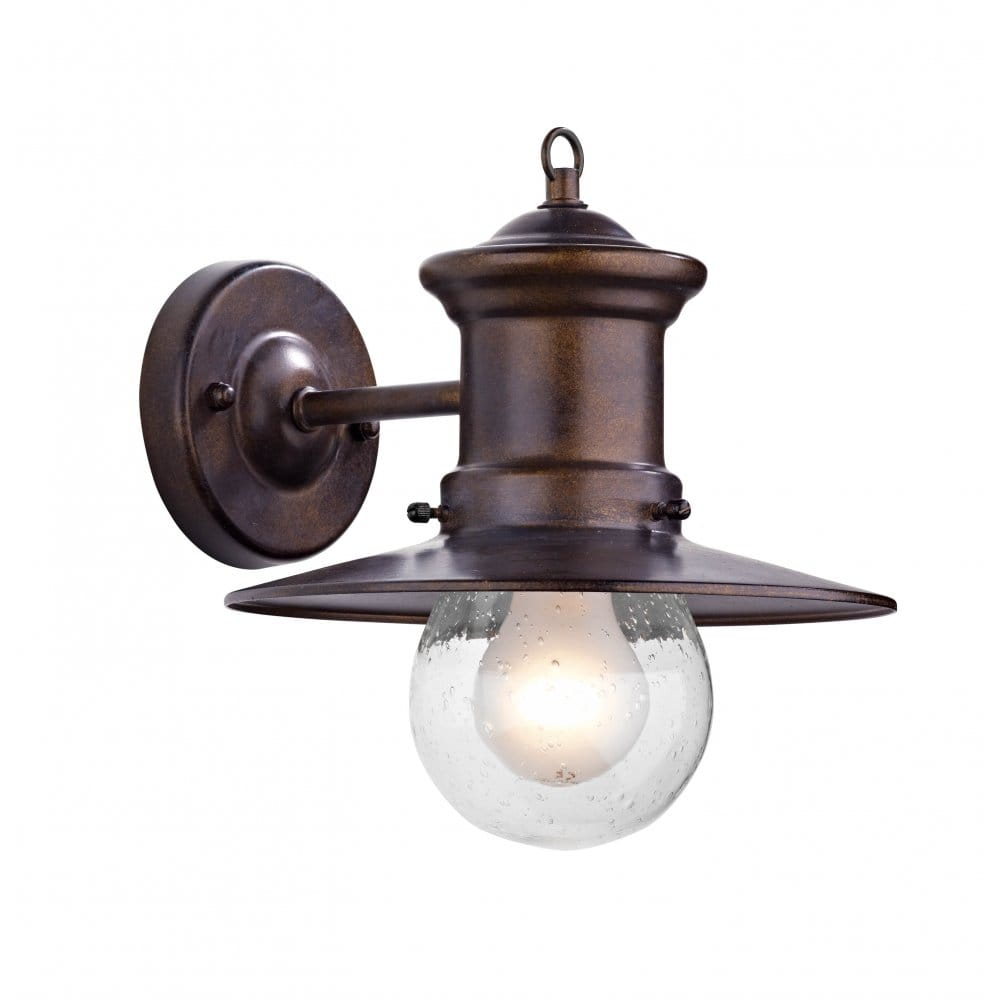Traditional Garden Wall Lights : Sedgewick Traditional Bronze Iron Garden Wall Lantern