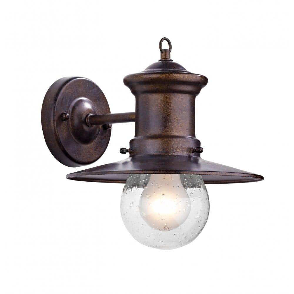 Sedgewick Traditional Bronze Iron Garden Wall Lantern