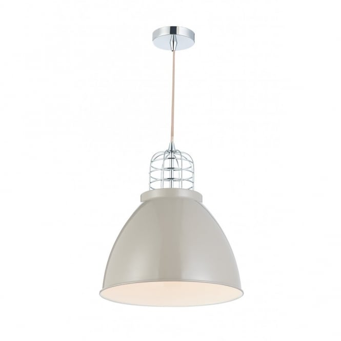 The Lighting Book SEYMOUR retro style grey putty ceiling pendant