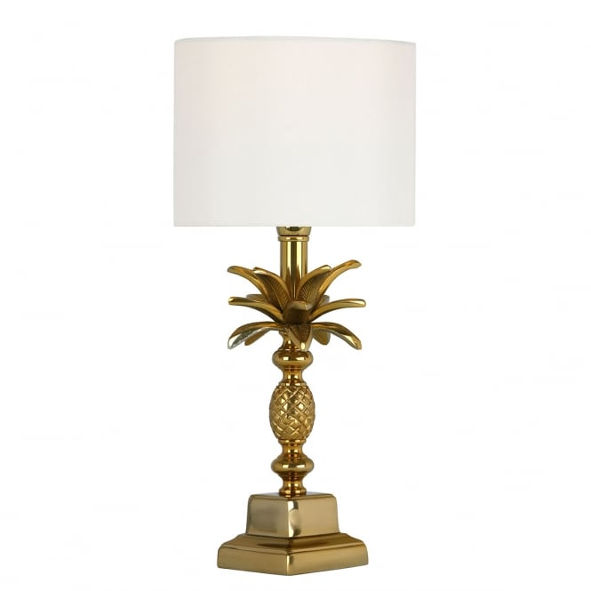 SIBILLA pineapple design table lamp base in antique gold finish (excludes shade)