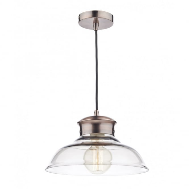 The Lighting Book SIREN clear glass and copper ceiling pendant