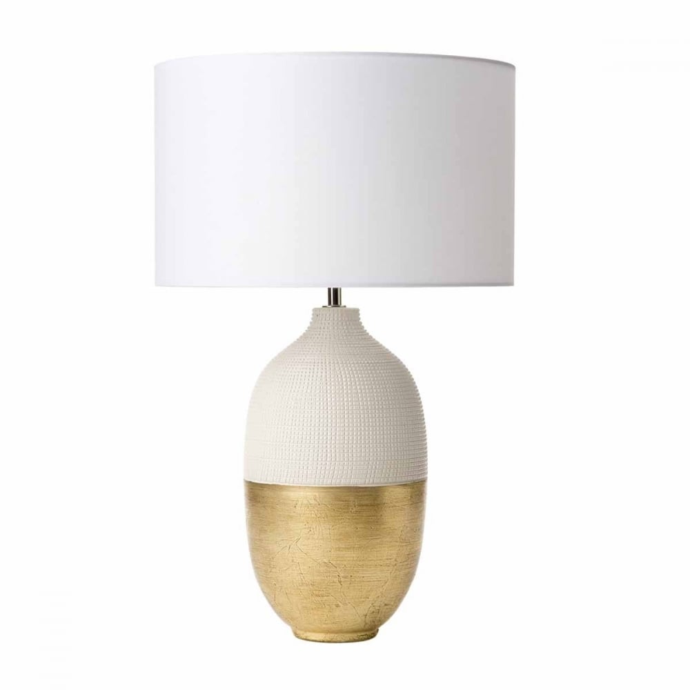 Ceramic White And Gold Two Tone Table Lamp Base