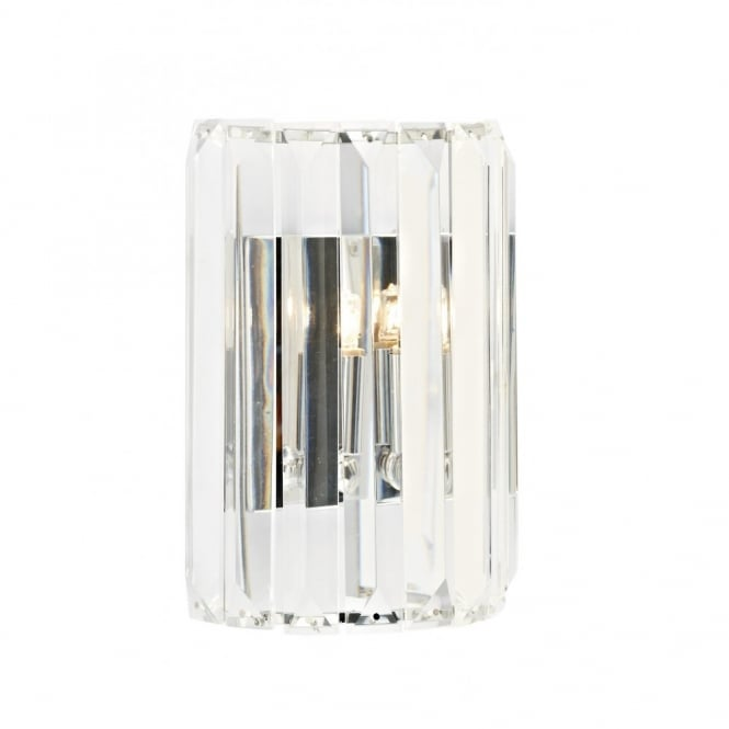 The Lighting Book SKETCH curved halogen wall panel light with crystal glass rods
