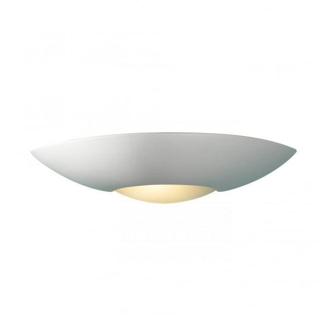 The Lighting Book SLICE white satin paintable ceramic wall light