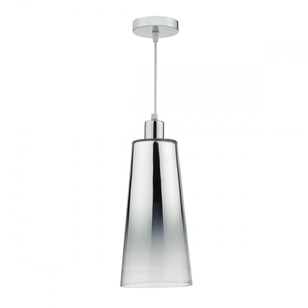 easy lighting. Chrome Gradient Glass Easy Fit Pendant Shade Lighting