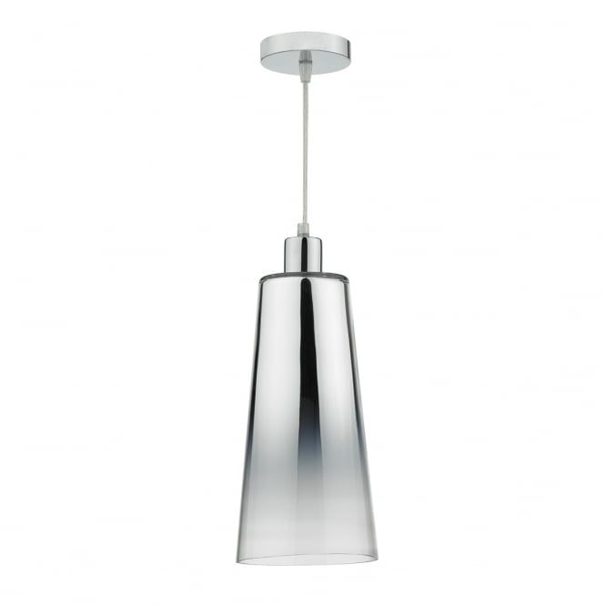 The Lighting Book SMOKEY easy fit chrome gradient glass shade
