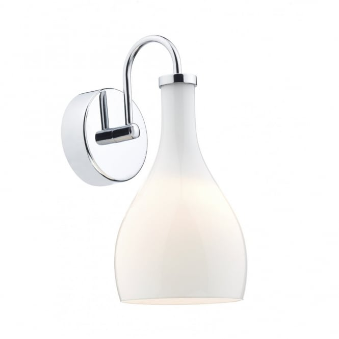 The Lighting Book SOHO contemporary white glass wall light