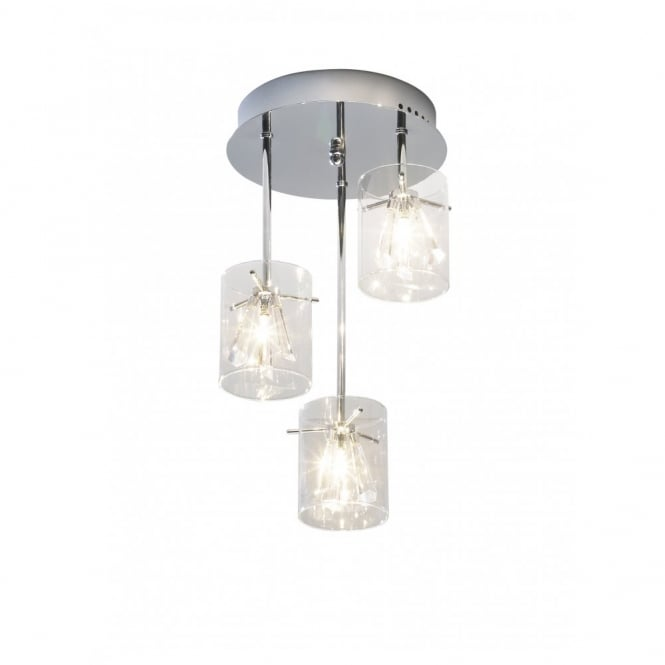 The Lighting Book SOMERSET modern circular 3 light semi-flush ceiling pendant