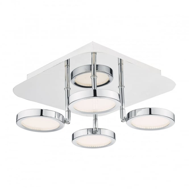 Modern Flush Fit Led Ceiling Light With Glass Lens Shades
