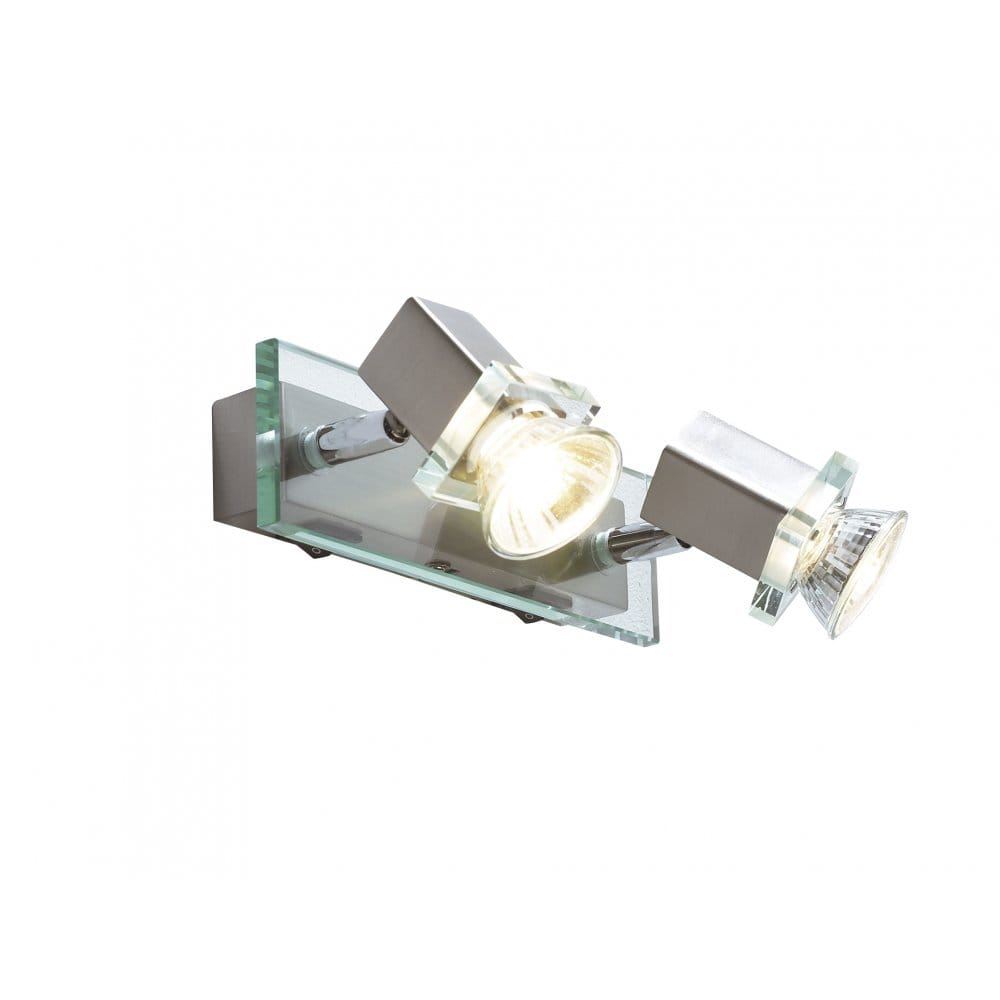 Wall Light Double Spotlight : Spirit Twin Wall Spotlight Bar in Satin Chrome