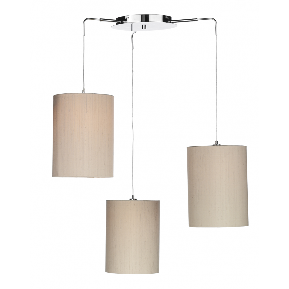 Chrome Ceiling 3 Light Pendant Suspension