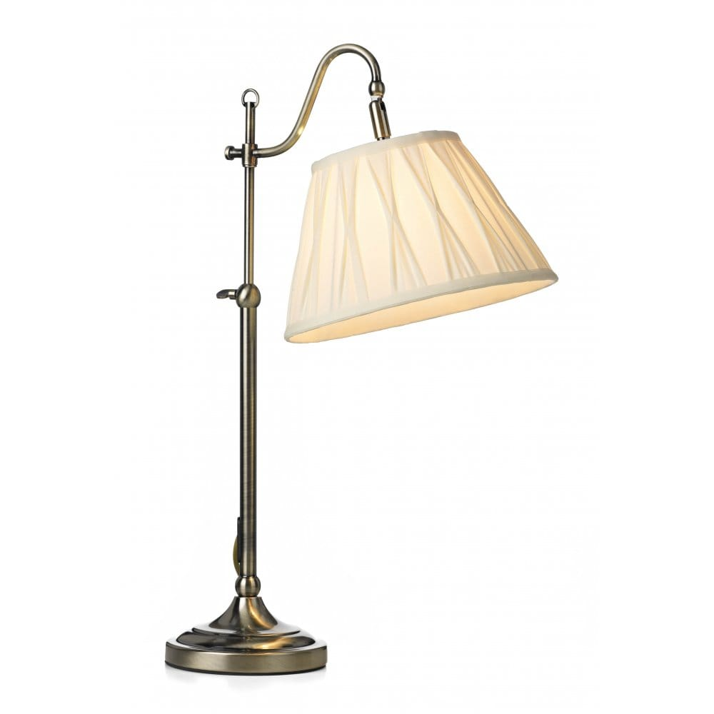 Suffolk Traditional Antique Brass Table Lamp for Reading