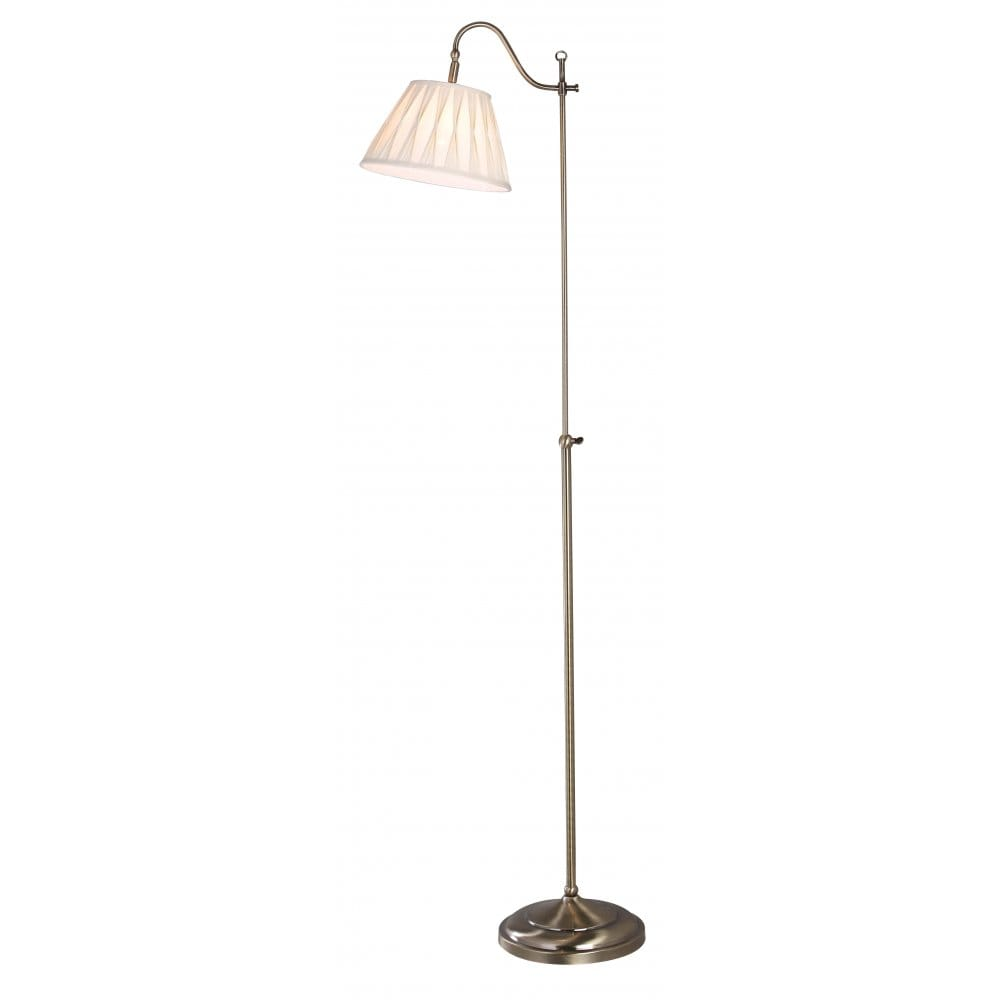 Suffolk Traditional Antique Brass Floor Lamp With