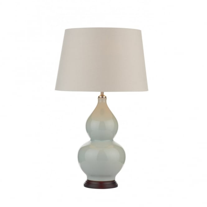 The Lighting Book TALA pale blue ceramic table lamp with shade