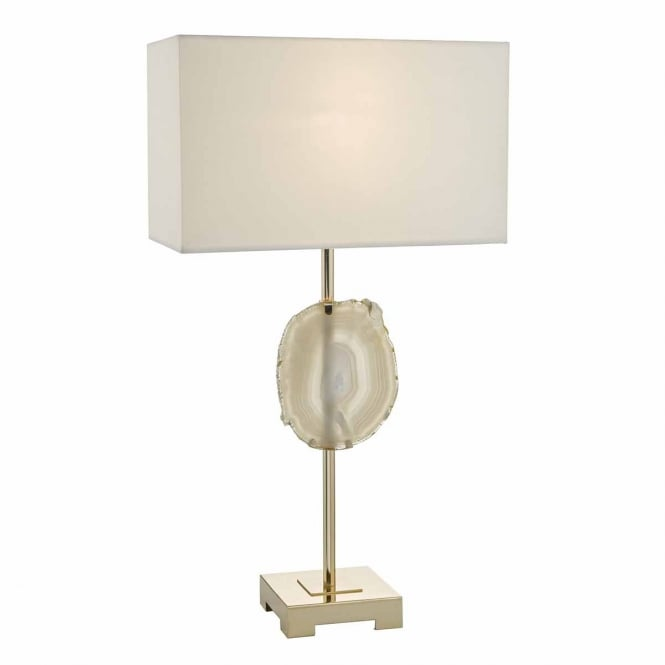 The Lighting Book TAORMINA French gold table lamp with ivory shade