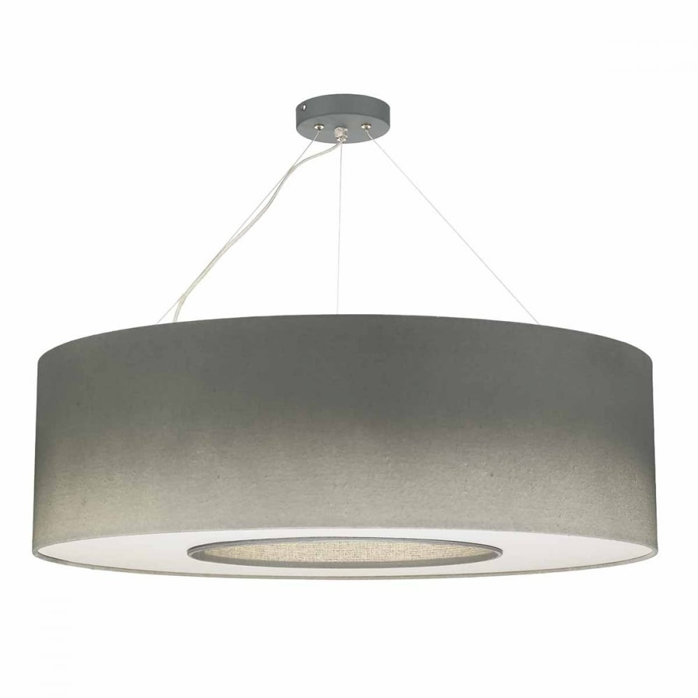 TAVIRA 6 Light Silver Grey Ceiling Pendant With Diffuser
