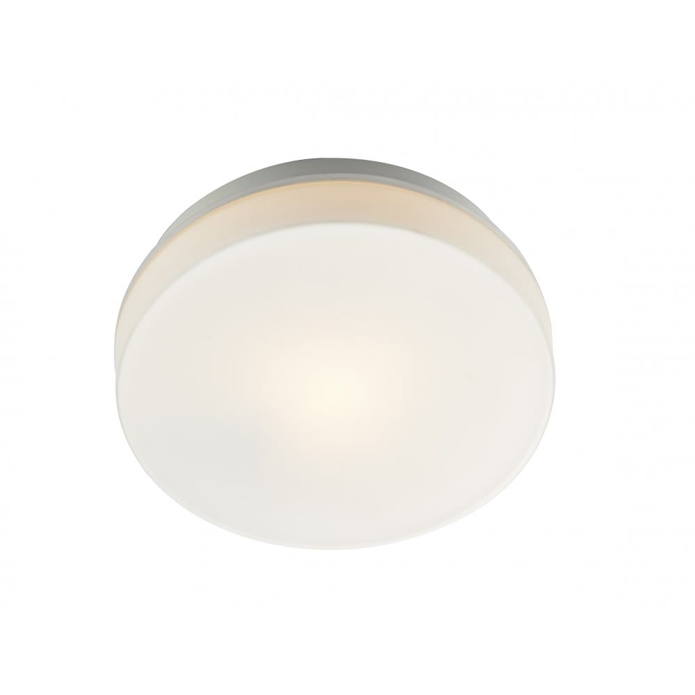 Contemporary White Led Bathroom Ceiling Light Ip44 Rated